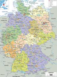 Germany Physical Map by Detailed Clear Large Map Of Germany Ezilon Maps