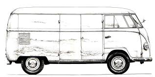 volkswagen bus clipart vw campervan colouring book vw camper vans colouring pages page