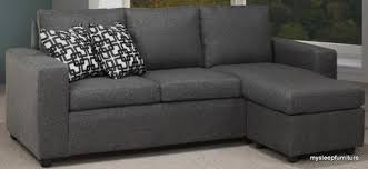 Reversible Sectional Sofa 1230 Grey Color Linen Fabric Reversible Sectional Sofa With 2
