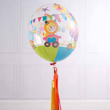 circus balloon circus tassel balloon by bubblegum balloons