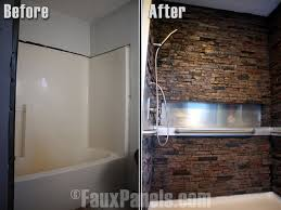 Bathtub Wall Kit Faux Stone Showers Are An Impressive And Affordable Addition To