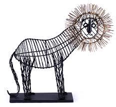 metal lion sculpture lion sculpture