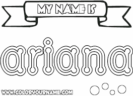 printable coloring pages ariana