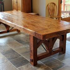 Custom Made Farmhouse Dining Table Rustic Furniture Pinterest
