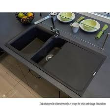 Reginox Ego  Bowl Titanium Grey Granite Composite Kitchen Sink - Kitchen sink titanium