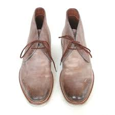 santoni 758 burnished distressed leather chukka shoes desert