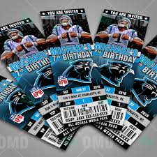 sports invites 2 5 6 carolina panthers football ticket style