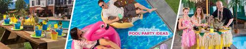 Pool Party Decoration Ideas Pool Party Ideas Themes U0026 Supplies Shindigz