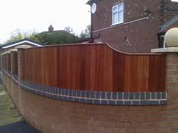 gallery fence panels sapele curved and stepped panel