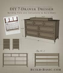 diy dresser build a diy 7 drawer dresser building plans by buildbasic www