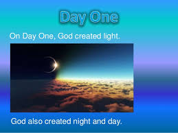 what day did god create light the 7 day creation