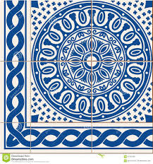 seamless pattern turkish moroccan portuguese azulejo tiles and