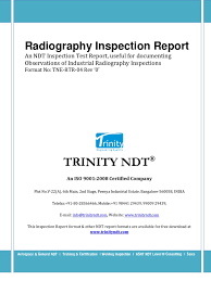 radiography inspection ndt sample test report format