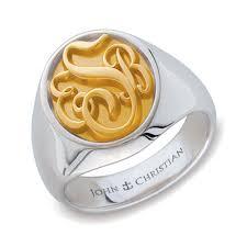 monogram ring somerset monogram ring 14k p 363 rluxium