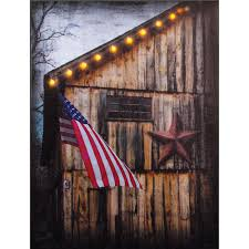 americana lighted canvas patriotic wall art sturbridge yankee