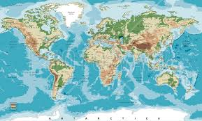 world map wallpaper atlas wall murals photowall com wall mural world map with elevation tints