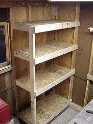 Free Standing Garage Shelf Plans by Paint Storage Shelf Made With 2x4s Paint Storage Storage