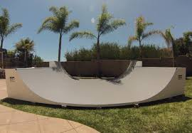 Backyard Skateboard Ramps Half Pipe Ramp 16 Foot Wide Oc Ramps