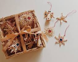 straw ornaments etsy