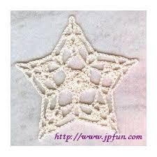 48 best crochet christmas stars pentagons images on pinterest