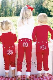 monogrammed christmas cutest christmas pajamas for the kids southern living