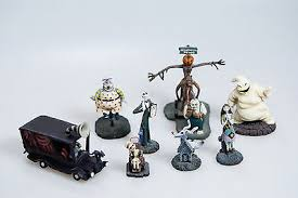 set of 8 nightmare before figurine hawthorne