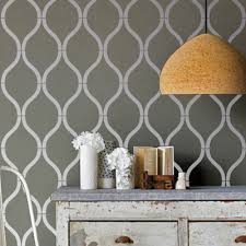 Trellis Wall Stencil Painting Geometric Patterns On Walls Top Make This Eclectic