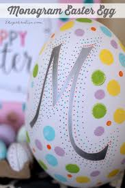 faux easter eggs monogram easter egg the girl creative