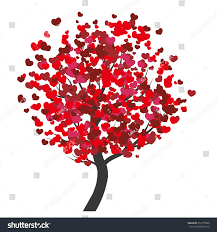 valentines day colored tree stock vector 251215885