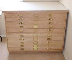 blueprint file cabinet used 5 drawer map flat chest drawings file