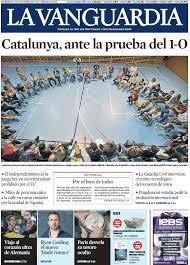 Challenge La Vanguardia Sun Oct 1st 2017 Catalonia Facing The Challenge Of The Referendum