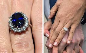 engagement ring images how meghan markle s engagement ring compares to kate middleton s
