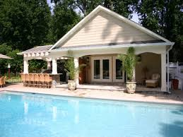 pool house plans with bedroom