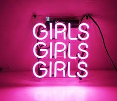 beer neon sign pink girls for home bedroom pub hotel beach
