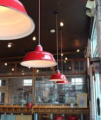 Enamel Pendant Lights Pendant Lights Recall Simpler Times At Bakery