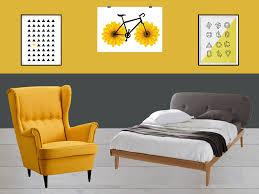 chambre jaune et bleu dco jaune et bleu top deco chambre hotel manger phenomenal rideau