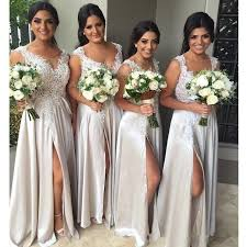 bridesmaids dress best 25 silver bridesmaid dresses ideas on