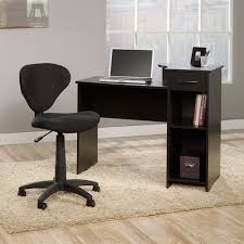 Home Office Furniture Walmart Mainstays Computer Desk With Sauder Fabric Task Chair Walmart