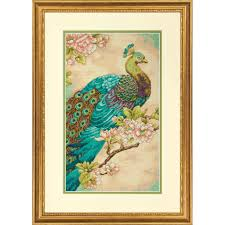 buy the dimensions counted cross stitch kit indian peacock at