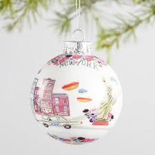 glass city ornaments set of 4 world market