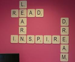 wall design ideas live laugh scrabble library wall