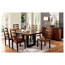sun u0026 pine 7pc rustic two tone dining set tobacco oak target