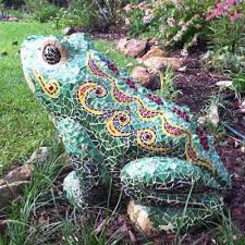 mosaic concrete lawn sculptures how to mosaic
