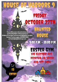 halloween haunted house at ebster gym be active decatur