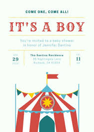 circus invitation templates canva