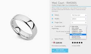 wedding ring order fingerprint wedding rings unique wedding rings in 5 easy steps