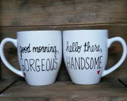 his hers mugs his and hers mugs etsy