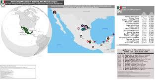 Tijuana Mexico Map Mexico Liga Mexicana De Béisbol Lmb Mexican League Location
