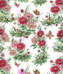 floral gift wrapping paper vintage wrapping paper pink by sandycreekcollectables on zibbet