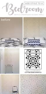 wall stencils for bedroom add style to a bedroom with a stenciled accent wall stencil